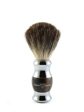 Edwin Jagger Pure Badger Brush Round Chromed Plated small image